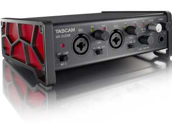 Tascam US-2x2HR | High-Resolution USB Audio/MIDI Interface (2 in, 2 out)