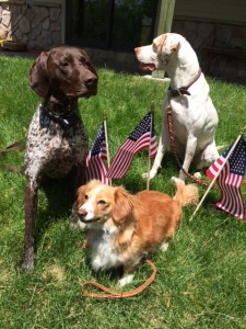 Libby, far left, joins the office staff.