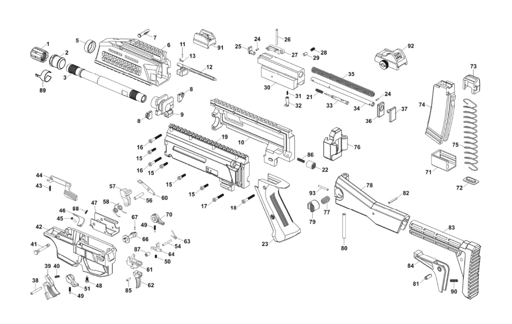 medium resolution of cz scorpion evo 3 s1 exploded view