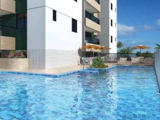 Perspectiva da piscina do Residencial Comendador Aloysio Nunes