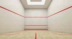 Perspectiva da quadra de squash do Ondina Ocean.