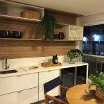Foto da varanda gourmet do apartamento decorado