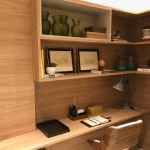 Foto do home office do apartamento decorado