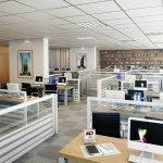 Perspectiva da sala grande do Empresarial ITC Salvador