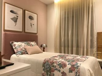 Foto do quarto de menina do apartamento decorado