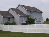 (Photo 7) 3-Rail Semi-Privacy Picketed Fence