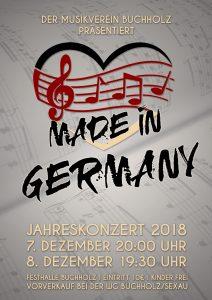 Jahreskonzert 2018: Made in Germany