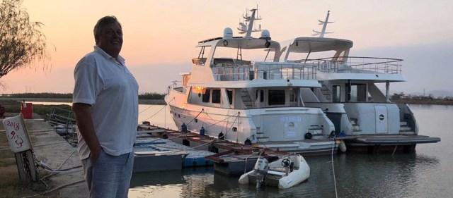Ed and Destiny at the Boat Yard