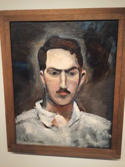 Self Portrait by Alexander Calder on display at the National Portrait Gallery