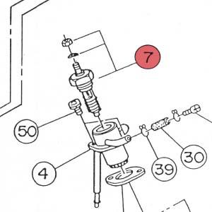 7) Glow Plug Assembly