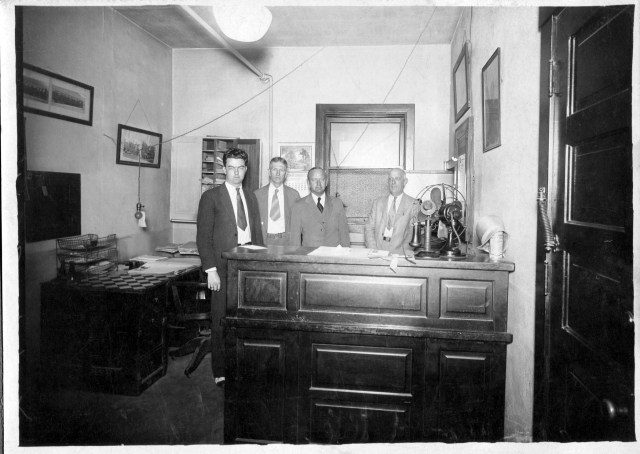 Charles Weiss and John Gaston in City Hall