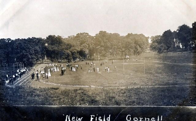 Cornell Football and Track Field Postcard