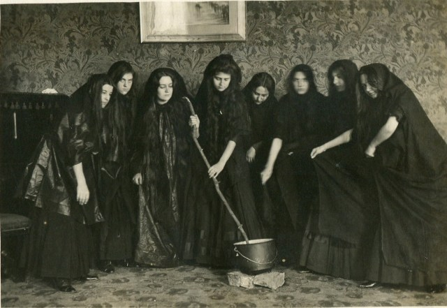 """Cornell College witches from Shakespeare's """"Othello."""""""