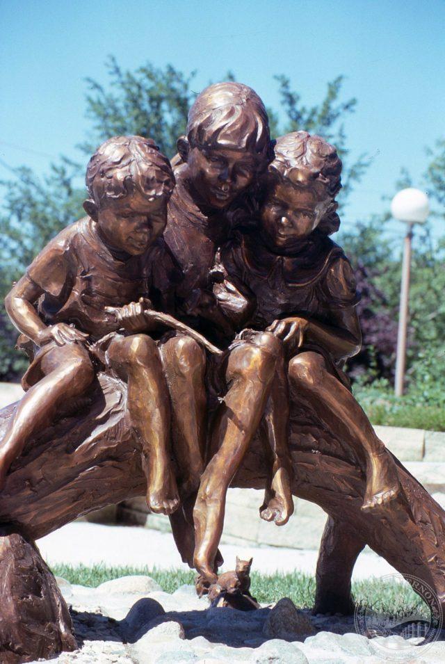 Photo of Bank Sculpture by Jane DeDecker - June