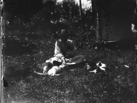 photo of Child with Cats