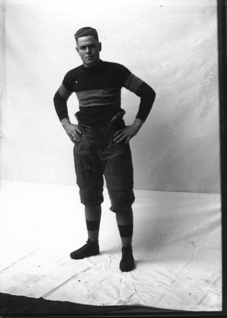 Cornell College Student in Football Uniform