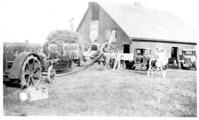photo of Grain Threshing