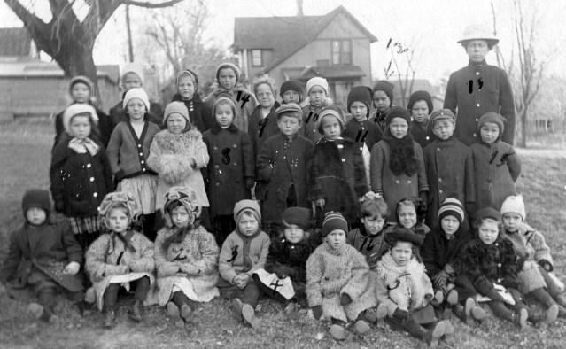 photo of Kindergarten Class Postcard