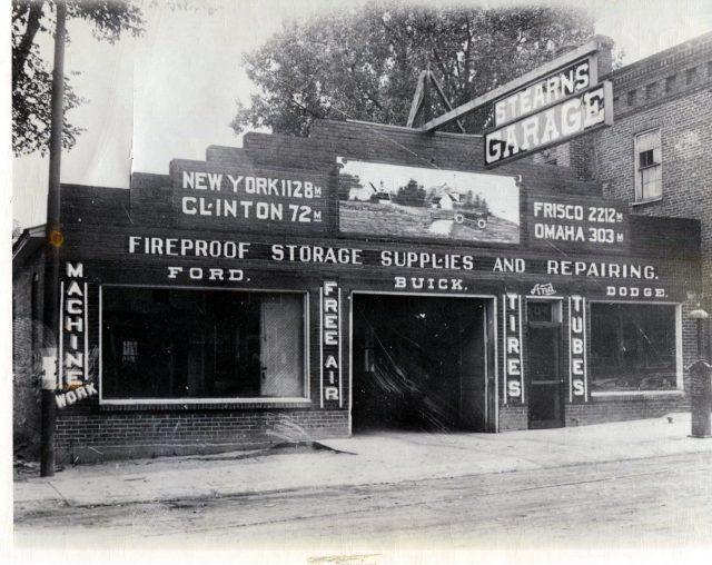 photo of Stearn's Garage-1929