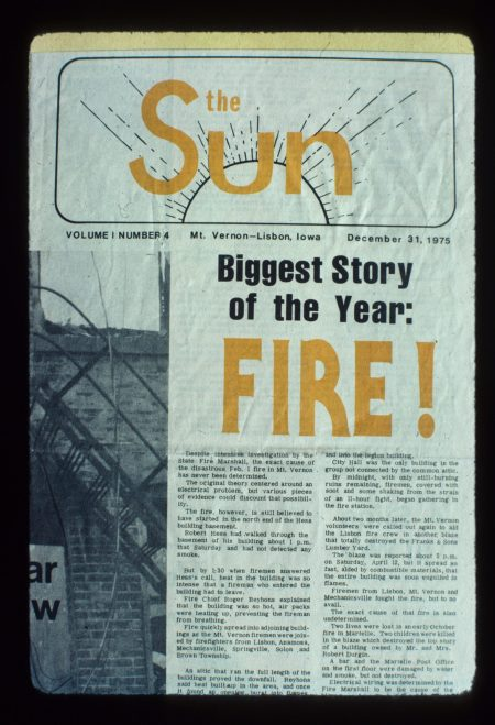 photo of Sun Newspaper Story
