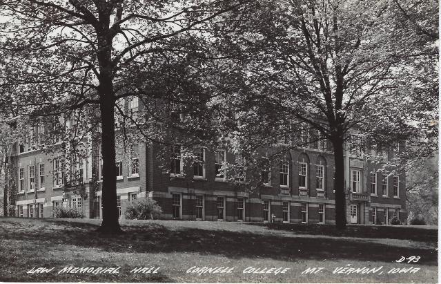 Photo of Law Hall postcard
