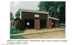 Photo of a blacksmith shop