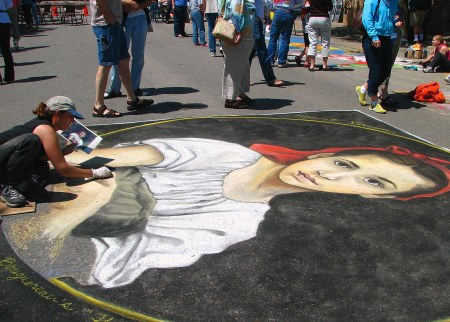 Photo of Chalk the Walk-2008 Dawn Wagner California Madonnari artist