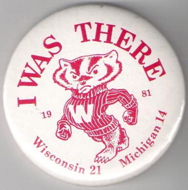 1981 Wisconsin Michigan pin