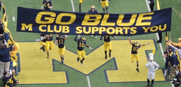 GO BLUE banner turns 50 - Denard Robinson, Roy Roundtree