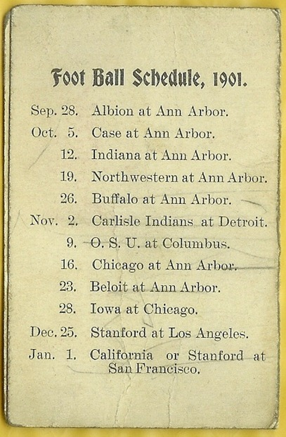 1901 schedule