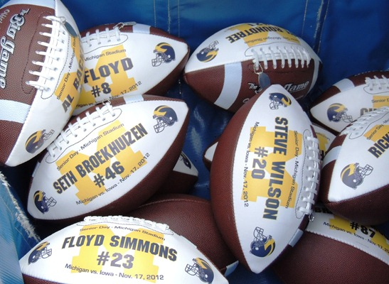 Senior Day Footballs - Custom Made