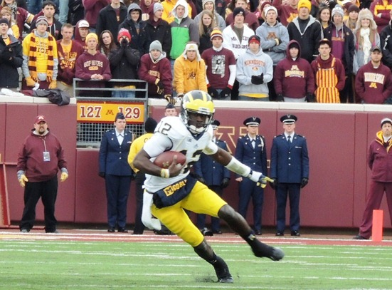 Devin Gardner slashes at Minnesota 2012