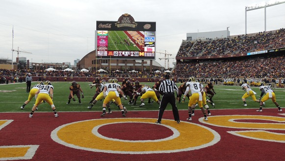 TCF Bank Stadium - endzone view