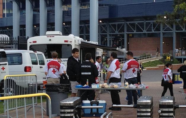 Michigan Stadium EMS tailgate