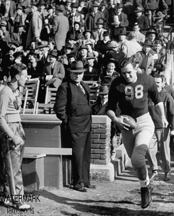 Tom Harmon emerges from Michigan Stadium Tunnel (1938)