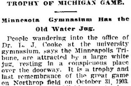 Minnesota Jug Trophy