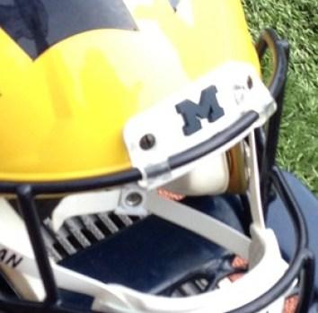 Michigan Football Helmet - Nosebumper