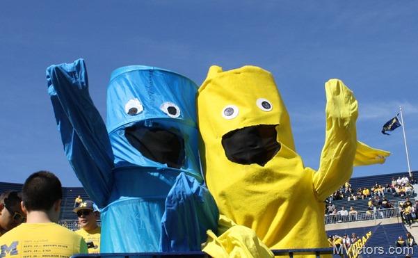 Blue and Maize guys at Michigan Stadium
