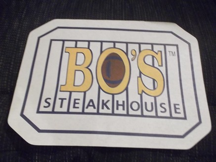 Bo's Steakhouse Placemat