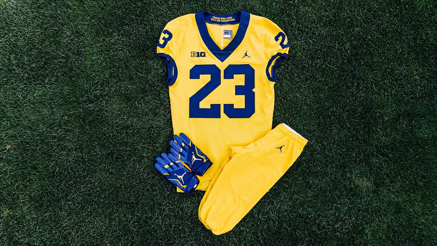 "ebd449e6c827 JERSEY PANTS SHOES  The U-M Athletic Department announces that Michigan  will be wearing an ""All-Maize"" uniform in the season opener against Florida."