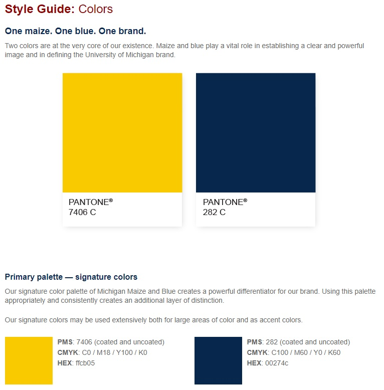 best website 6d431 77a89 2 12 2019 - A look at a vintage color swatch of the University of Michigan  official colors from 1912. Along Expand