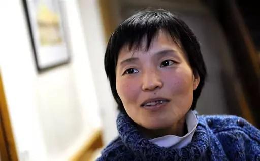 Haruko Sakaguchi enseignait le français au Japon et espère retrouver un travail. (Photo NR, Sébastien Gaudard)