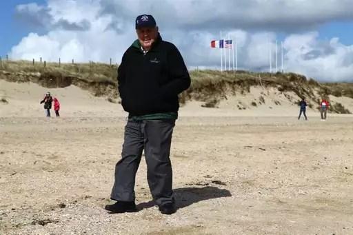 Russel Taylor a débarqué le 6juin 1944 à Utah Beach. Il a de nouveau foulé la plage, 68ans après, avec beaucoup d'émotions.