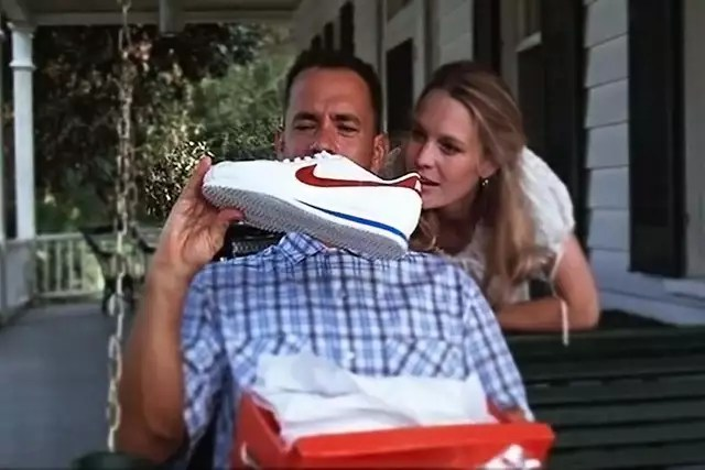 photo it is with nike cortez that forrest gump, camped by tom hanks, will forge its legend. © photo: united international pictures (uip)