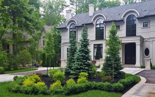 circular driveway landscaping design