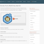 Gravity Forms: MailChimp Addon