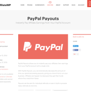 AffiliateWP: PayPal Payouts