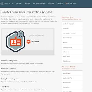 Gravity Forms: User Registration Addon