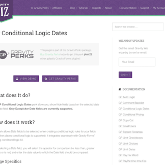 Gravity Perks: Conditional Logic Dates