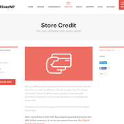 AffiliateWP: Store Credit